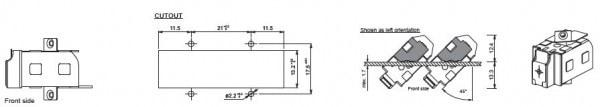 45° screw fastening